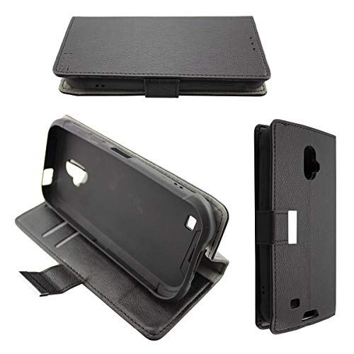 caseroxx Tasche für Blackview BV5900 Bookstyle-Case in schwarz Cover Buch