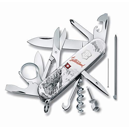Victorinox Unisex– Erwachsene Taschenmesser Explorer Swiss Spirit (19 Funktionen Lupe, Korkenzieher, Schere), Special Edition, Weiss, 91 mm