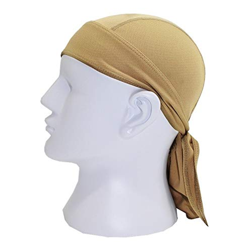 XuCesfs Schnell trocknende Totenkopf-Mütze, schweißabsorbierendes Bandana, Kopftuch, Piraten-Kopfbedeckung, Anti-UV-Kopfschutz, khaki