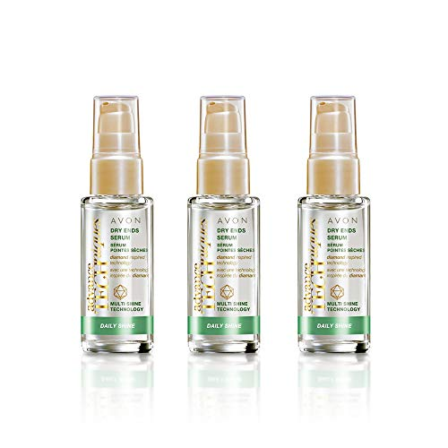 3 x Avon Advance Techniques Daily Shine Suero Para Las Puntas Secas 30ml