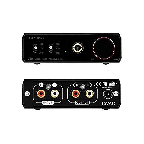 TOPPING L30 AMP NFCA HiFi 6.35MM Amplificatore per cuffie Amplificatore preamplificatore ad alta risoluzione RCA Nero