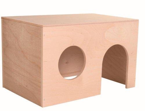 Trixie 60861 Holzhaus für Meerschweinchen, 24 × 15 × 15 cm