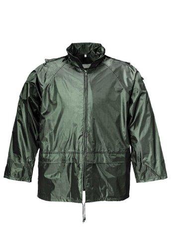 Terratrend 9405-S-1000 Regenjacke, Größe S, Schwarz, grün, 9405-L-4400