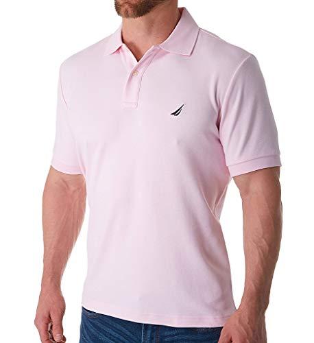 Nautica Men's Short Sleeve Solid Interlock Polo Cradle Pink X-Large