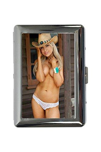 Zigarettenetui Box Pin Up Erotik Cowboyhut Bedruckt