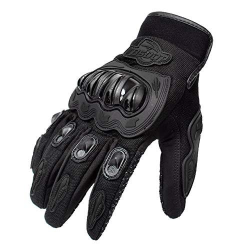 Guantes de Motocicleta, Guantes de Carreras con Dedos completos, protección para Deportes al Aire Libre, Guantes para Montar en Bicicleta, Guantes para Moto Luvas-Black-4-M