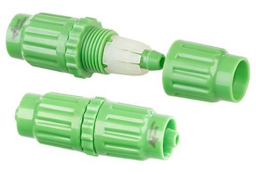 Royal Gardineer Zubehör zu Gartenschlauch-Adapter: 2 Kupplungen zur Reparatur dehnbarer Gartenschläuche PRO.V2, V3 & V5 (Gartenschlauch Reparaturset)