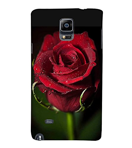 Fiobs Designer Back Case Cover for Samsung Galaxy Note 4 :: Samsung Galaxy Note 4 N910G :: Samsung Galaxy Note 4 N910F N910K/N910L/N910S N910C N910Fd N910Fq N910H N910G N910U N910W8 (Rose Flowers Floral Ful Red Gulaab Aroma Smell)