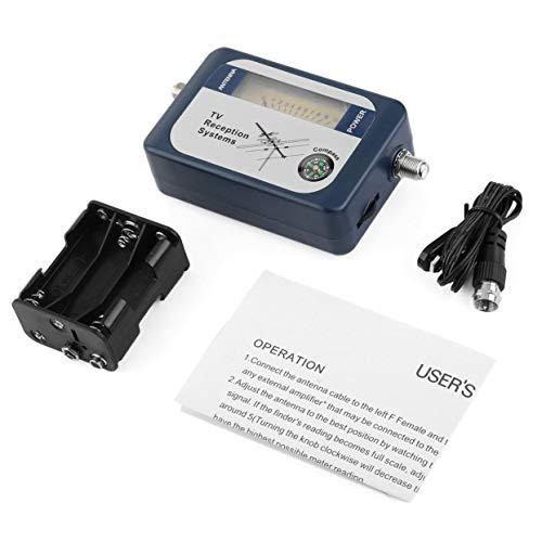 Tellaboull Für DVB-T Finder Digitale Antenne terrestrische TV-Antenne Signal Power Strength Meter Zeiger TV-Empfangssysteme mit Kompass