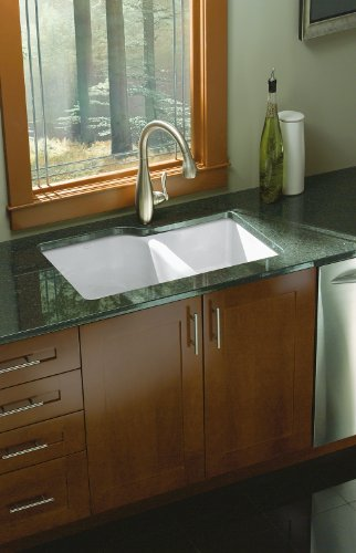 Kohler K-5931-4U-0 Executive Chef Undercounter Kitchen Sink, White