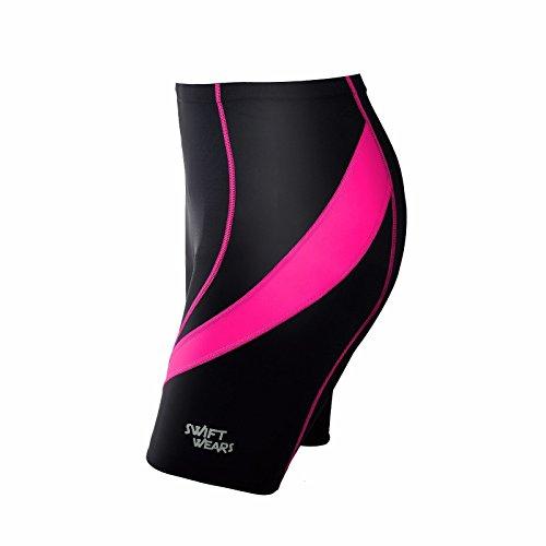 Swiftwears Damen-Fahrradhose, gepolstert, Cool Max Anti Bac Pad XL rose