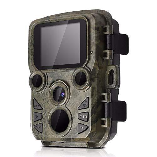 OUJIN Cámara de caza Wildlife 12MP 1080P HD Trail Game Cámara IP65 impermeable con lente de 70°