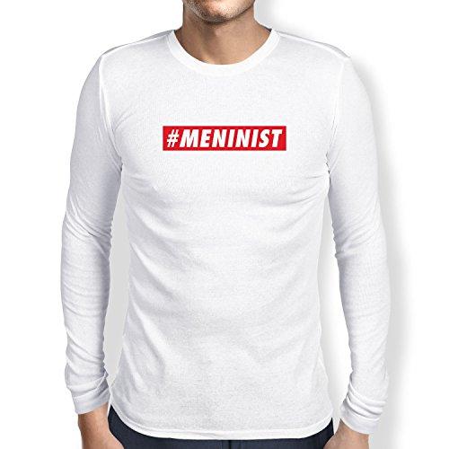 Texlab Meninist - Herren Langarm T-Shirt, Größe M, weiß