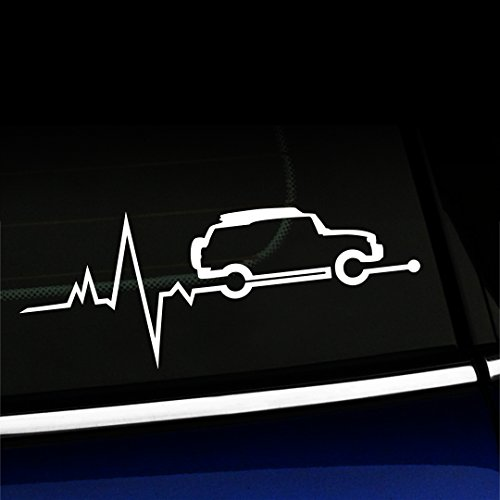 Artistic Reflection FJ Cruiser is in My Blood - Vinyl Decal for Toyota FJ Cruisers - Choose Color - [White]