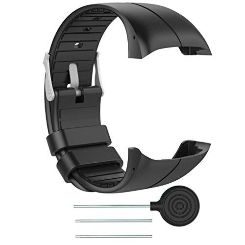 Zolimx Correa de Reloj Pulsera de Silicona Brazalete reemplazo para Polar M400 / M430 Reloj Fitness (Negro)