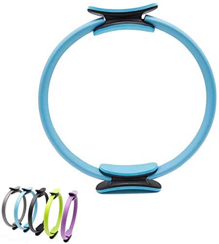 BriskyM Pilates Ring Unbreakable Fitness Yoga Ring Kraftwiderstand Übungskreis für Shaping und Fitness (Blau, 1)