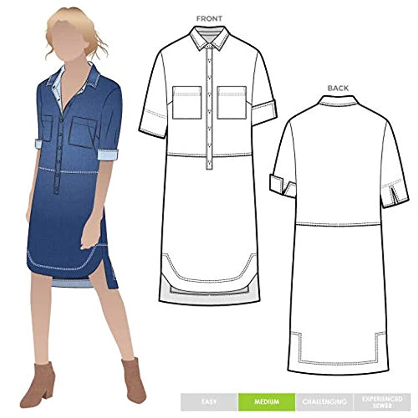 Style Arc Sewing Pattern - Murphy Woven Dress (Sizes 18-30) - Click for Other Sizes Available