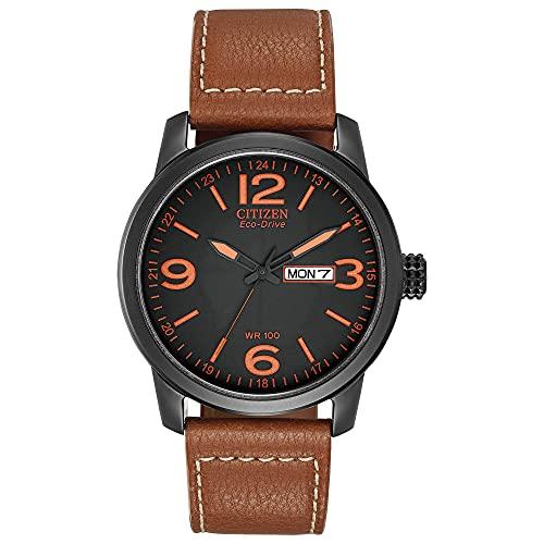 Citizen BM8475-26E - Reloj para Hombre, Correa de Piel sintética Color marrón