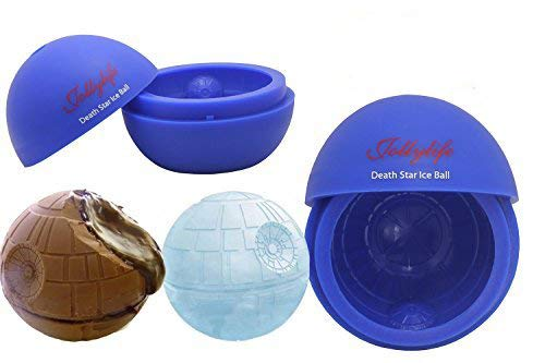 Jollylife Silicone Mold Ice Cube Tray Ball for Star Wars Lovers or Party Theme 2pcs (Blue)