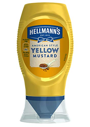 Hellmann's American Style Yellow Mustard Senf (Klassisch mild, würziger Senfgeschmack) 8er Pack (8 x 260 g)