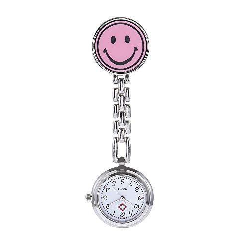 ZHANGZZ Schöne CHAOYADA Uhr, Krankenschwester-Tisch-Smiley Krankenschwester-Hängetisch-Mode-Smiley-elektronische Quarz-Taschenuhr (Color : 3)