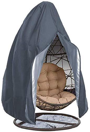 SHRFC Funda para silla colgante de patio, impermeable, antipolvo, funda para muebles de jardín con cremallera, funda protectora para muebles, tela Oxford impermeable con forro de PVC, 230*200CM