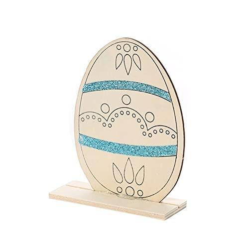 Unknows - Decorazione in legno per uova di Pasqua, decorazione per feste di matrimonio, fai da te, senza volto, bambola vecchio