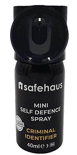 TIW Mini Self Defence Spray Criminal Identifier, Black