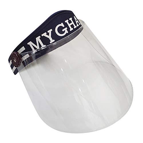 RYTEJFES Safety Gesichtsschutzschirm, Gesichtsschutz mit Visier, Leicht Schutz Mütze, Multifunktionaler Antibeschlaghut Anti Staub, Anti Fog, Anti-Speichel