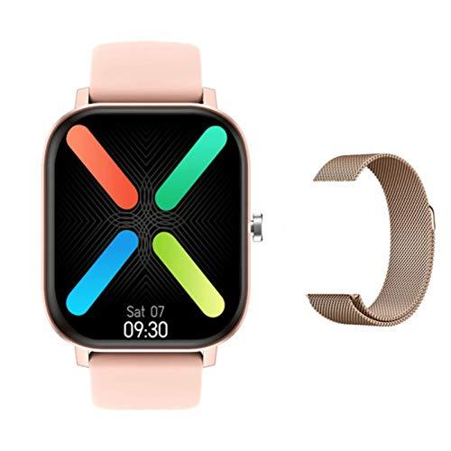 JXFF Smart Watch, DT36 Men 420 * 485 Bluetooth Llamada 1,75 Pulgadas Monitor de Ritmo cardíaco Tracker Fitness Ejercicio Damas SmartWatch admite Android iOS,A