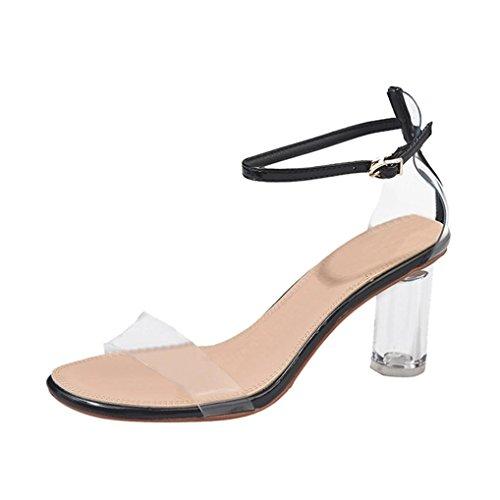 Covermason Zapatos Tacón alto mujer verano 2018, punta abierta para mujeres Block Party