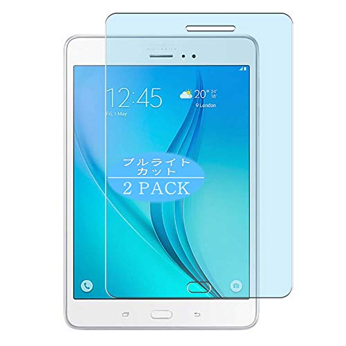 VacFun 2 Piezas Filtro Luz Azul Protector de Pantalla Compatible con Samsung Galaxy Tab A 8.0 3G SM-T351 t355c, Screen Protector Película(Not Cristal Templado) Anti Blue Light Filter New Version