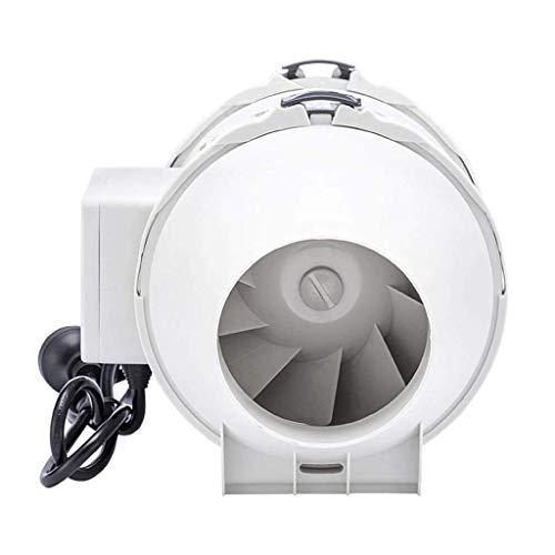 XZJJZ Ventilador de ventilación, conductos de línea Booster Ventilador de Entrada Extintor, bajo Nivel de Ruido Extra largas de Puesta a Tierra del Cable de alimentación