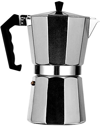 Check Out This Eight-Sided Coffee Pot Italian Espresso Maker Easy to Use Aluminum Moka Pot with Safe...
