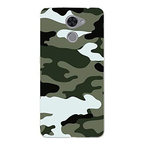 Funda Nova Lite Plus Carcasa Huawei Nova Lite Plus Militare Mimetica Camuflaje Ejército Militar Verde negro Blanco / Cubierta Imprimir también en los lados / Cover Antideslizante Antideslizante Anti