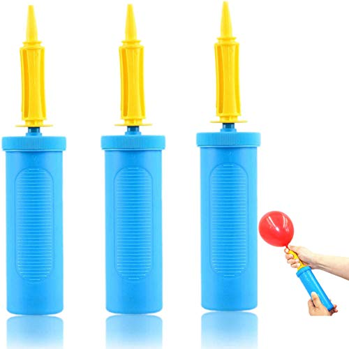 JOEE 3 Pack Bombas de Globo,Bomba de Aire,Manual Inflator,Bombas de Globos de Mano,Bomba de Globo de Gas,Globos de Papel de Aluminio Cumpleaños de Fiesta de Globos
