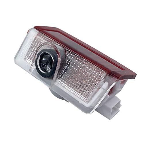 xy para 2 unids para Mercedes Benz W176 AMG A C E M Clase W205 W212 W166 4MATIC A180 C200 COCE Styling LED Door Logo Bienvenido Proyector Light Compatible con (Color : Black)