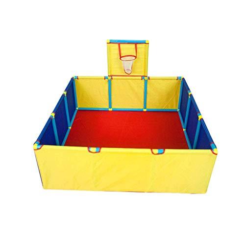 Baby Zaun Home Laufstall Zelt Kunststoff Ball Pool Oxford Stoff Langlebig und zuverlässig Anti-Fall Kids Activity Center Isolation Sicherheit Spielbereich Tor