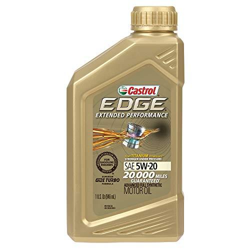 Castrol 06242 EDGE Extended Performance 5W-20 Advanced Full Synthetic Motor Oil, 1 Quart, 6 Pack