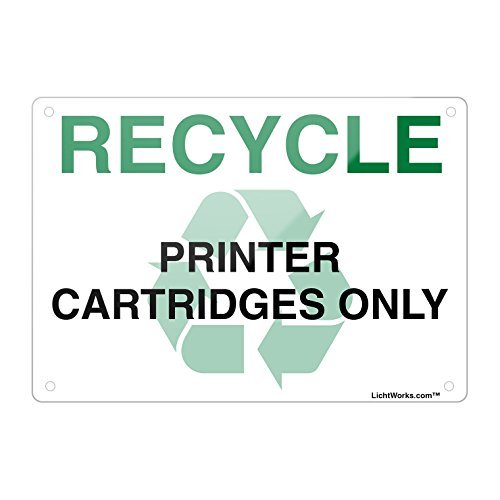 Recycle aluminium metalen bord printer Cartridges alleen, 18