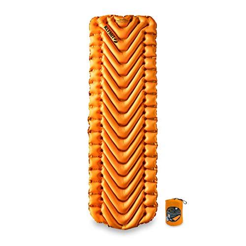 Klymit Unisex's Insulated Static V Lite Sleeping Pad, Orange, One Size