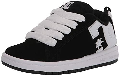 DC Shoes Unisex Kinder Court Graffik Skate Schuh Kind, - schwarz / weiß - Größe: 29 EU