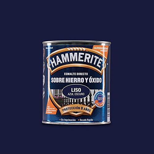 Hammerite Esmalte Antióxido Liso Brillante Azul Oscuro 2,5 L.