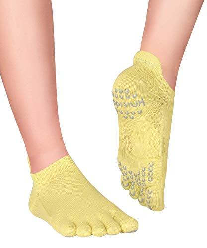 Knitido Plus Sora Calcetines Antideslizantes de Yoga y Pilates, Talla:35-38, Color:verde pistacho (04)