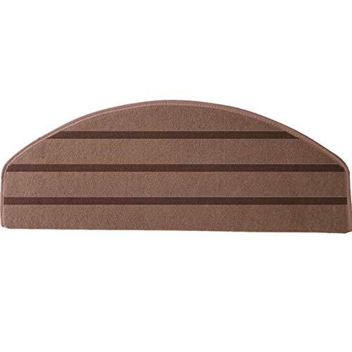 BECCYYLY Treppenstufenmatte Sicherheit rutschfeste Innentreppenmatte Treppenstufen-Teppichschutzmatte / 7St