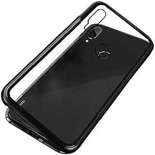 Huawei Nova 3i Case 360 degree full cover 2 pieces metal frame Magnetic tempered glass back case - Black
