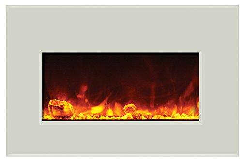 Amantii Electric Fireplace INSERT-30-4026-WHTGLS
