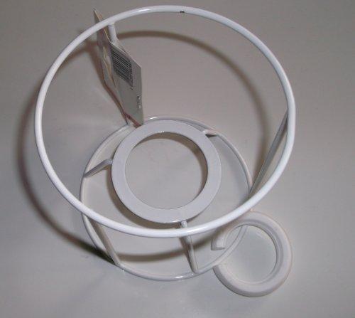 Lampenschirm-Gestell, Rund, für E14 & E27, weiß, Ø 10 cm, 10 cm hoch