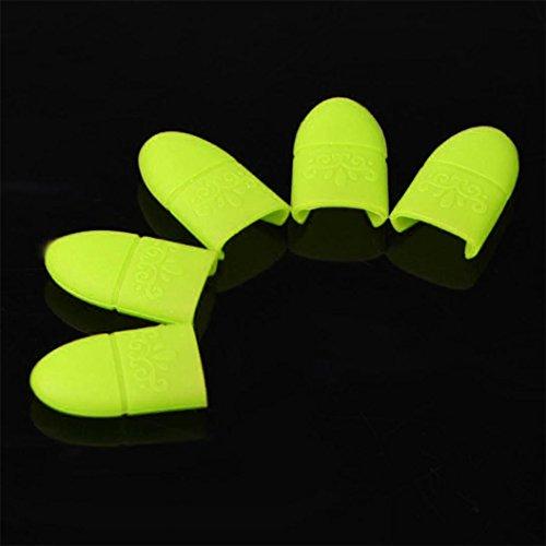 Vovotrade ❤❤10PCS Gel de Silice Ongles Tremper Gel UV Art Extracteur Polonais Emballage Casquette Cadeau_Jaune
