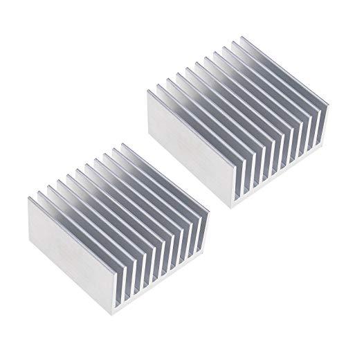 2 unids 40x40x20mm aluminio disipador calor radiador disipador calor tono plata para...